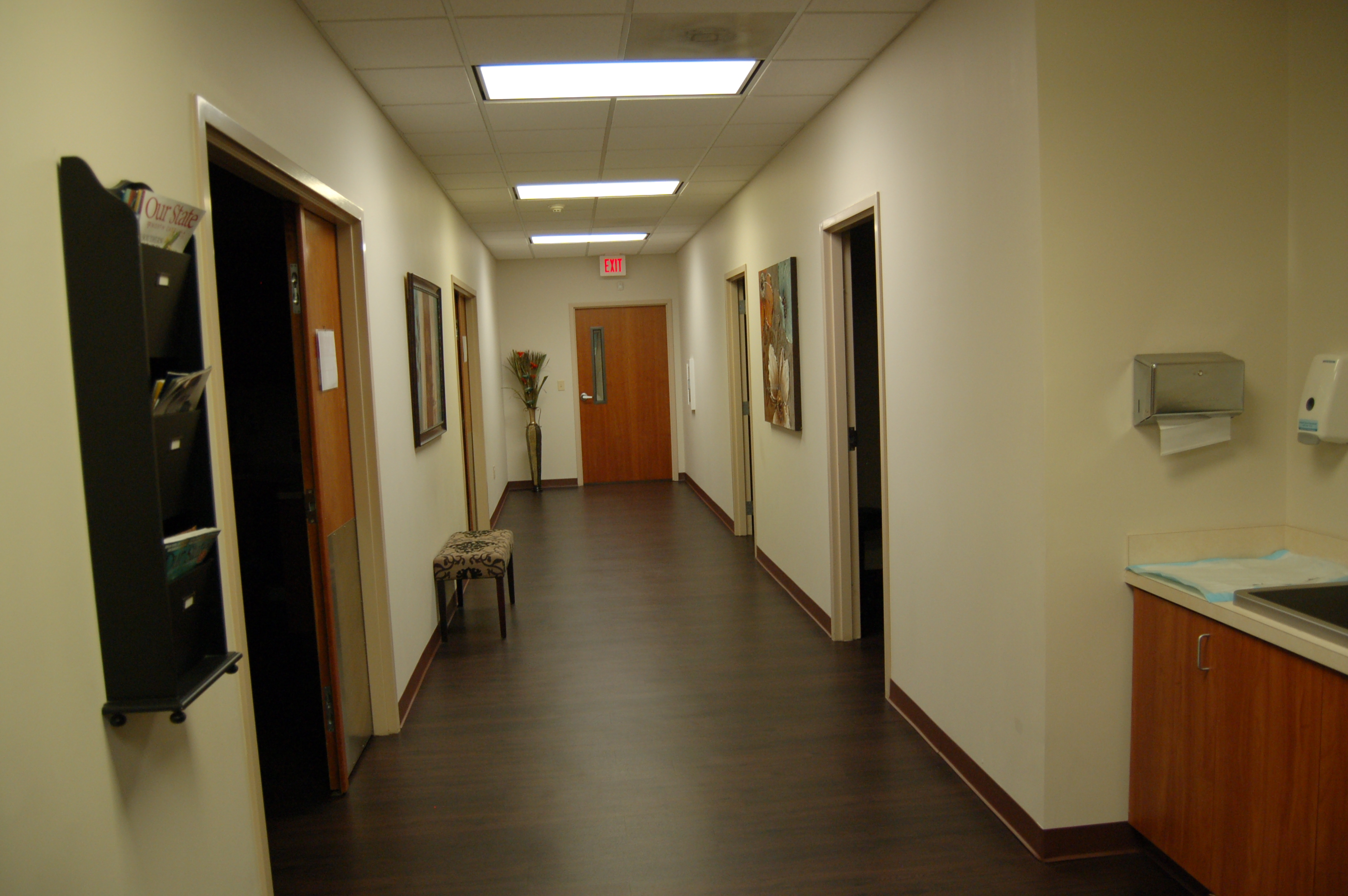Hallway to procedure rooms