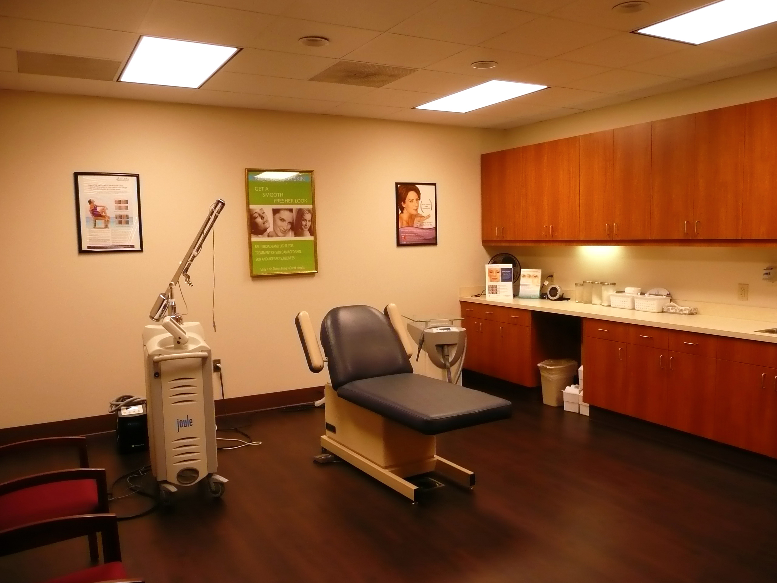 Laser Room of Dermatology Specialists of Charlotte