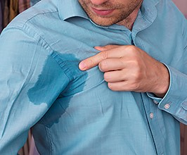 manage excessive sweating by seeing your Charlotte dermatologist=DSCMD